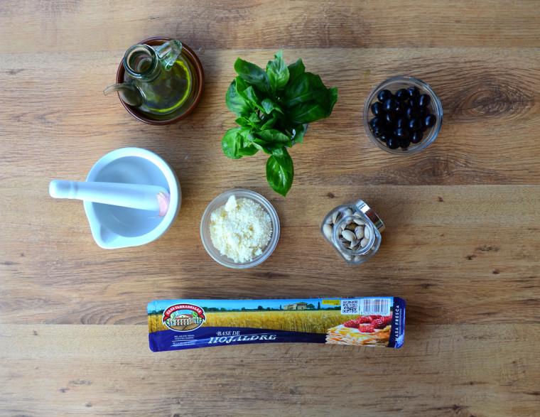 Palmeritas de pesto ingredientes