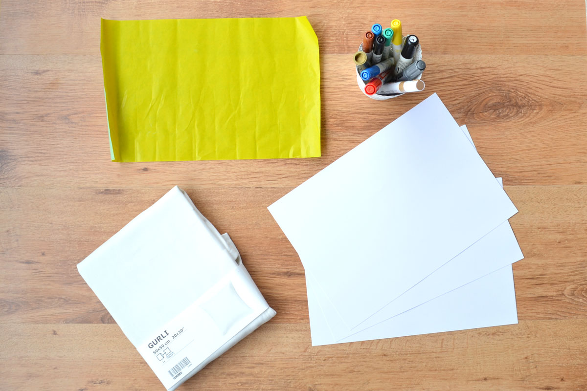 Como pintar un coj n con rotuladores departamento de ideas - Cojines en ikea ...