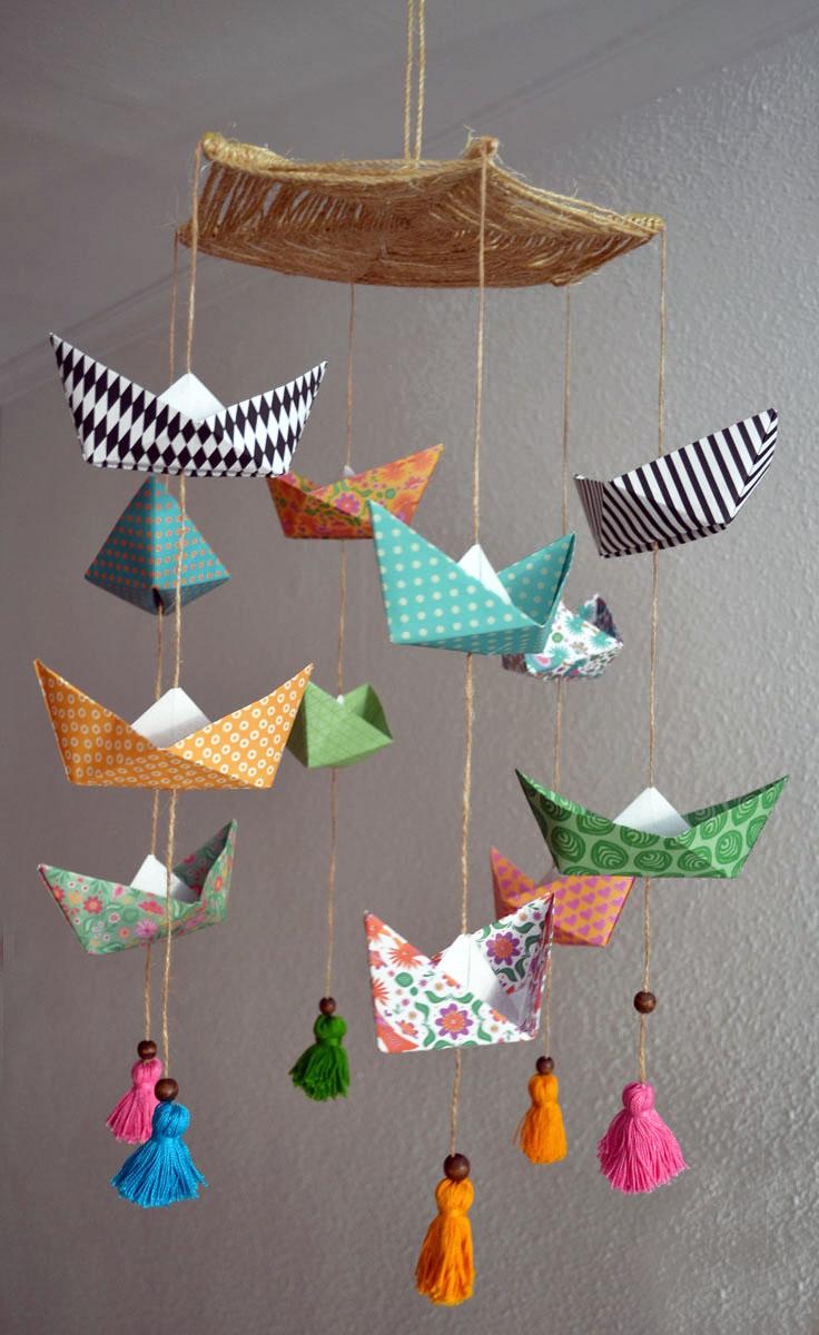 M vil de barcos de papel origami departamento de ideas - Manualidades con papel pintado ...
