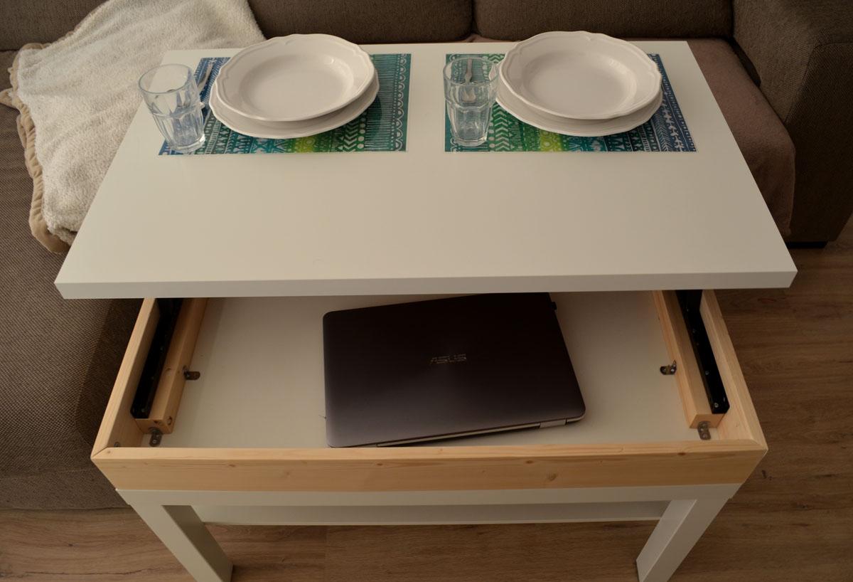 Como hacer una mesa elevable con una mesa lack depart for Como disenar una mesa
