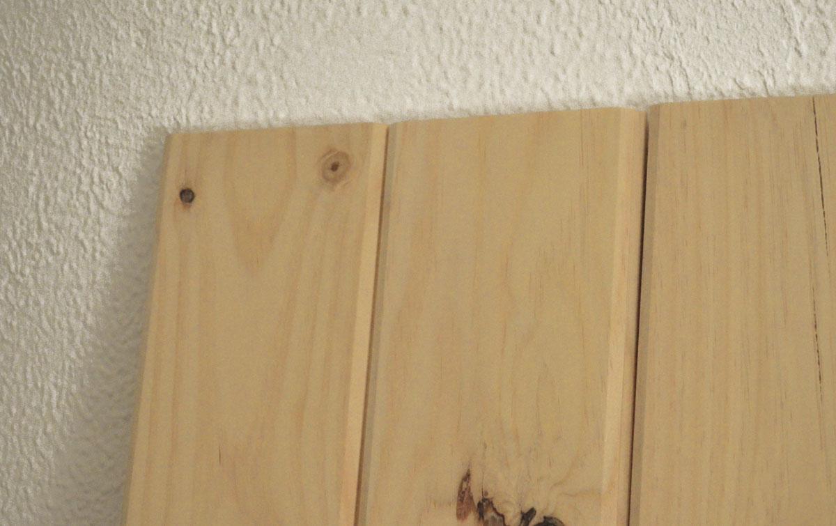 cabecero de madera maciza con tablones de tarima diy - Como Hacer Un Cabecero De Madera
