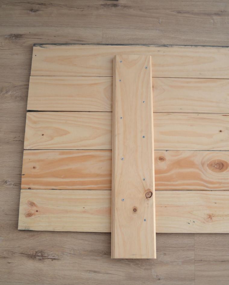 Cabecero de madera maciza diy departamento de ideas - Mesas de tablones de madera ...