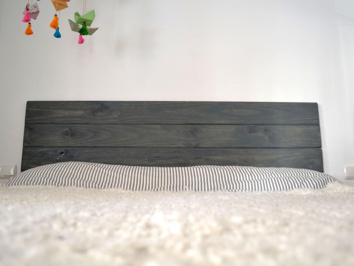 Cabecero de madera maciza diy departamento de ideas - Con que se limpia la tarima flotante ...