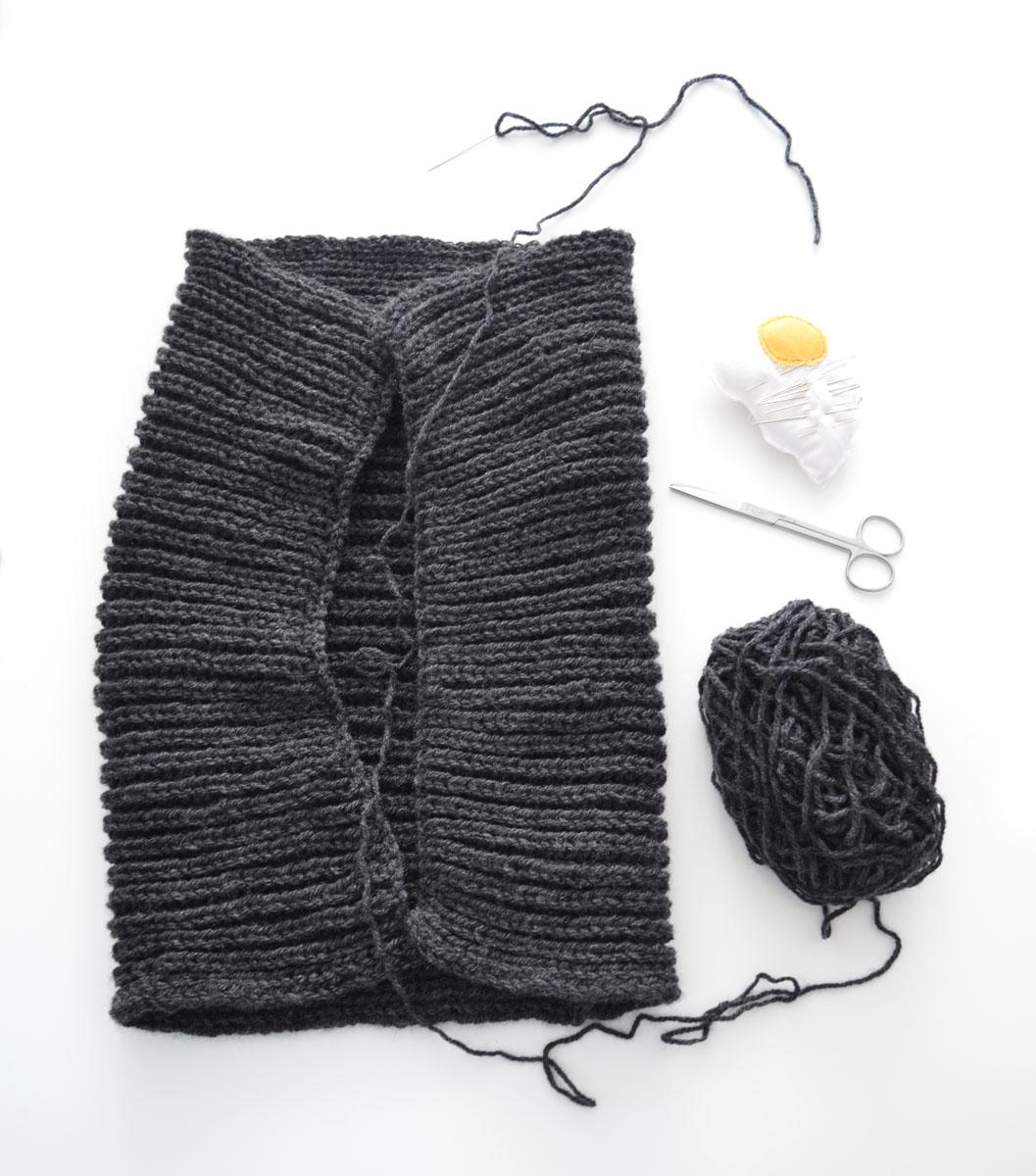 Cuello de lana gris de punto ingles departamento de ideas - Puntos de lana ...