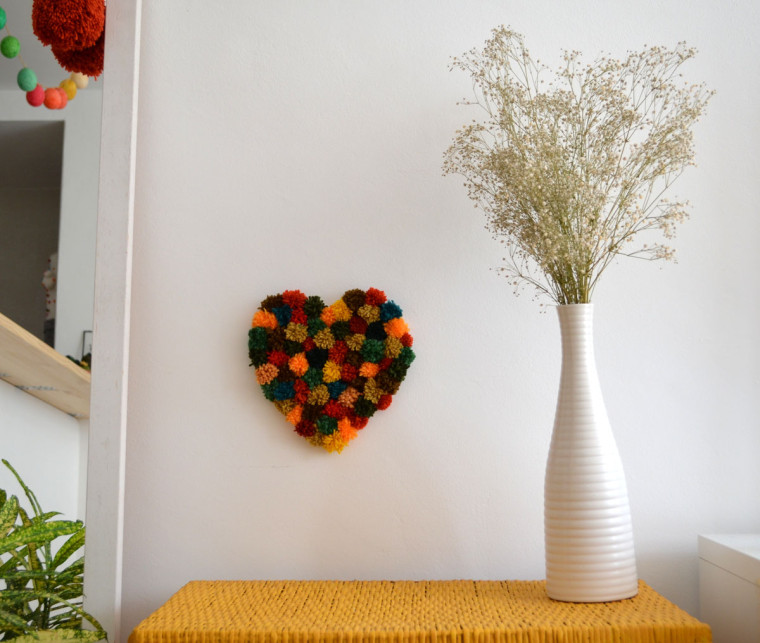 Pompones_corazón_decoracion