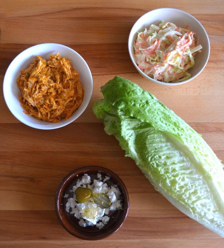 Enrollado lechuga pollo coleslaw ingredientes