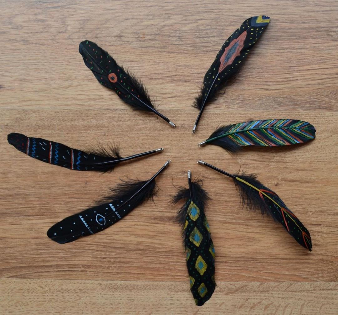 Como pintar plumas