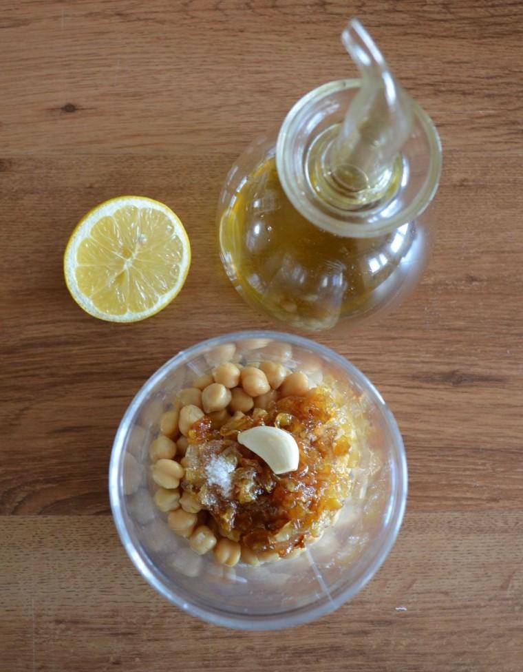 Hummus cebolla caramelizada ingredientes receta