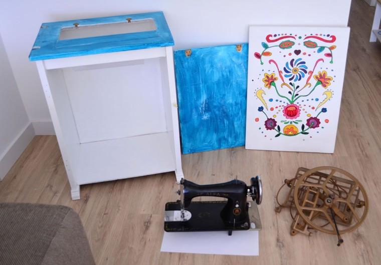 Maquina coser antigua restauracion