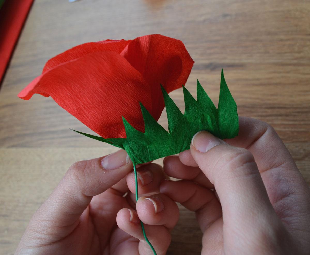 C mo hacer rosas de papel crep departamento de ideas - Como se hacen flores de papel ...