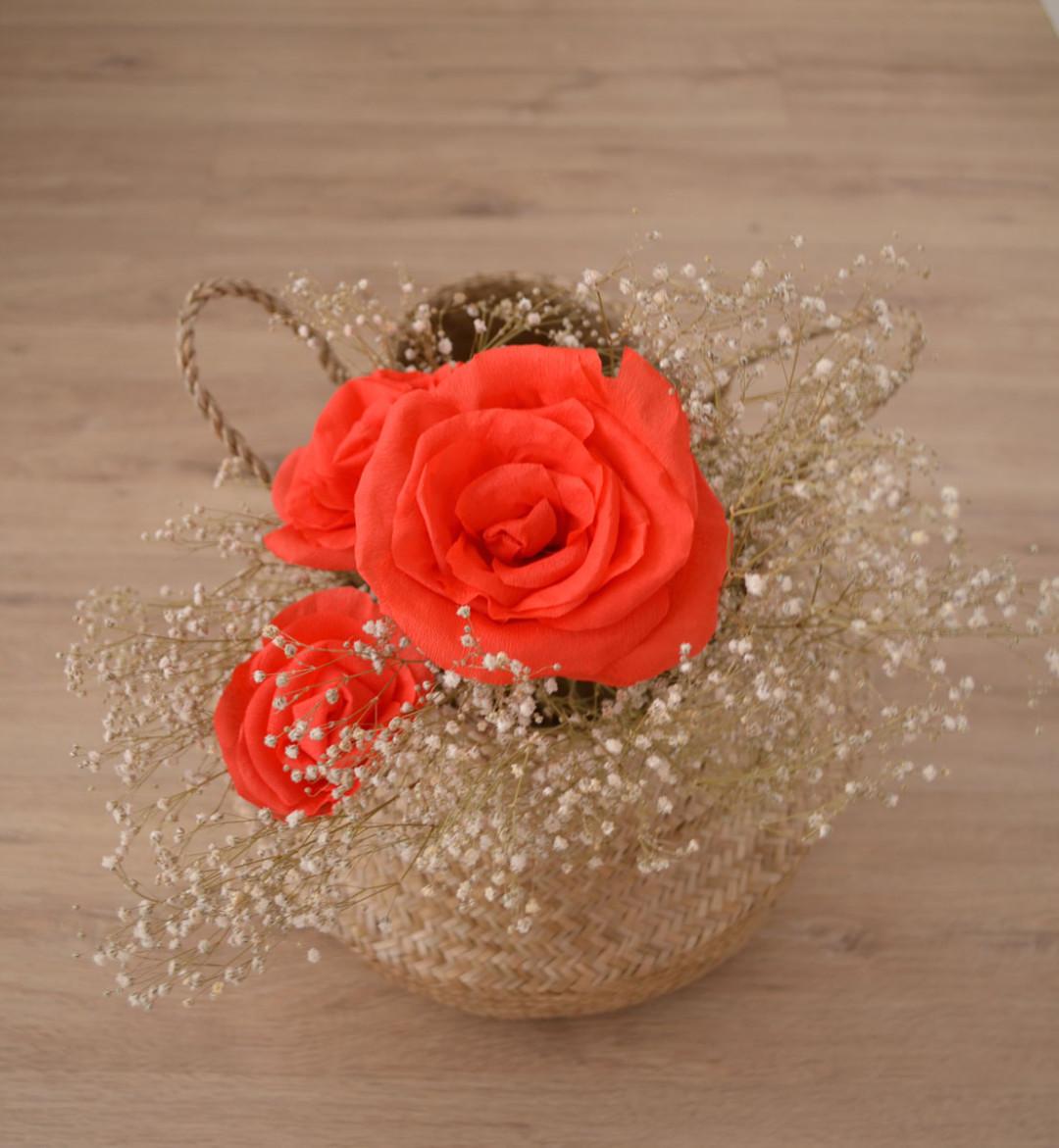 c mo hacer rosas de papel crep departamento de ideas On como hacer rosas de papel