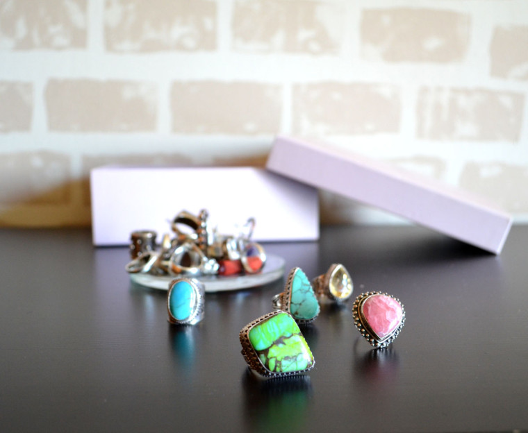 Organizador anillos caja