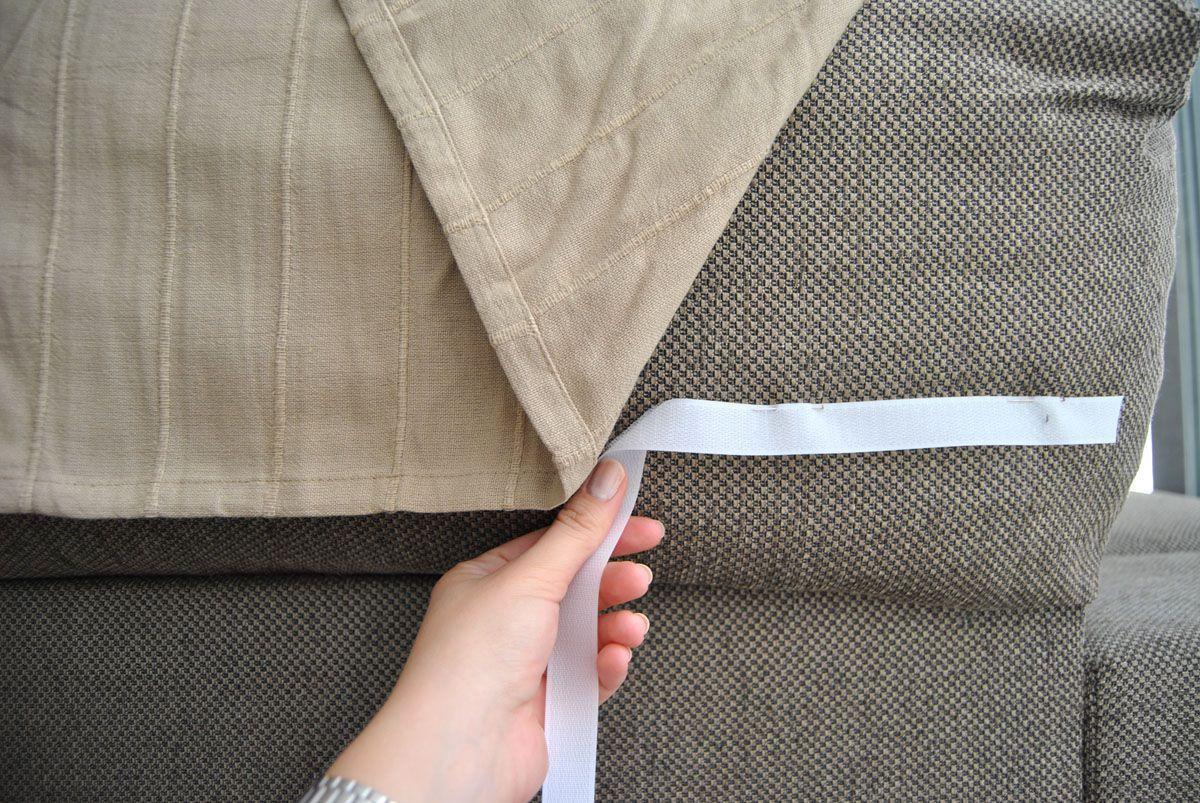 C mo hacer una funda de sof que no se cae con truco - Modelos de cojines para sofas ...