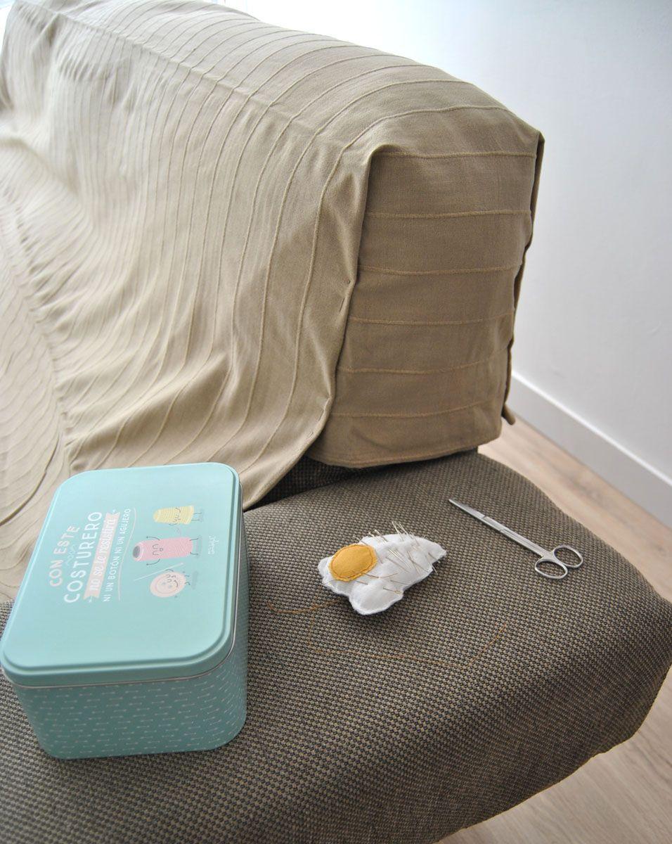 Cómo hacer una funda de sofá que no se cae (con truco)   Departam