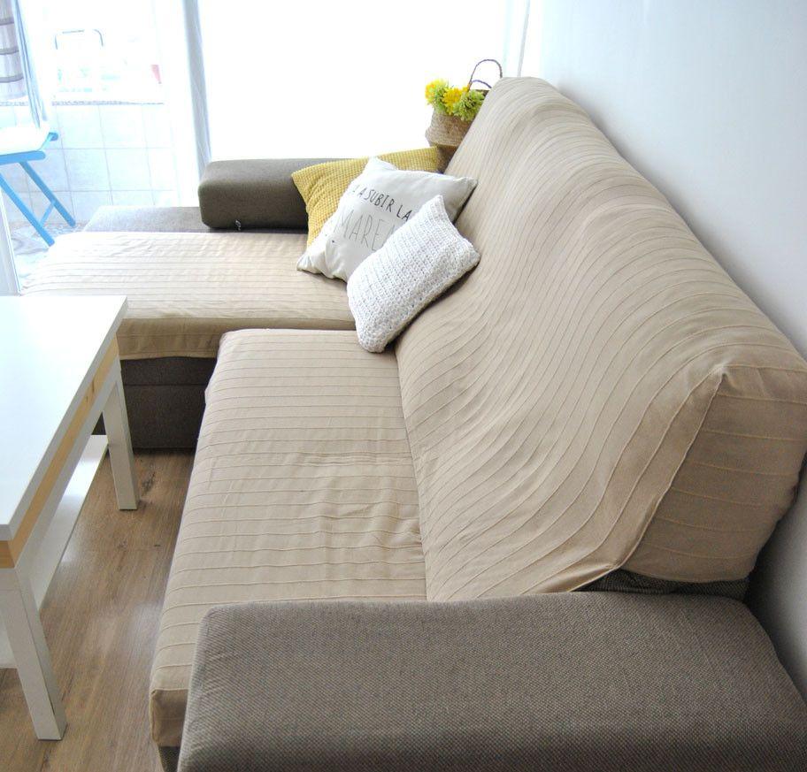 C mo hacer una funda de sof que no se cae con truco - Fundas para cheslong ...