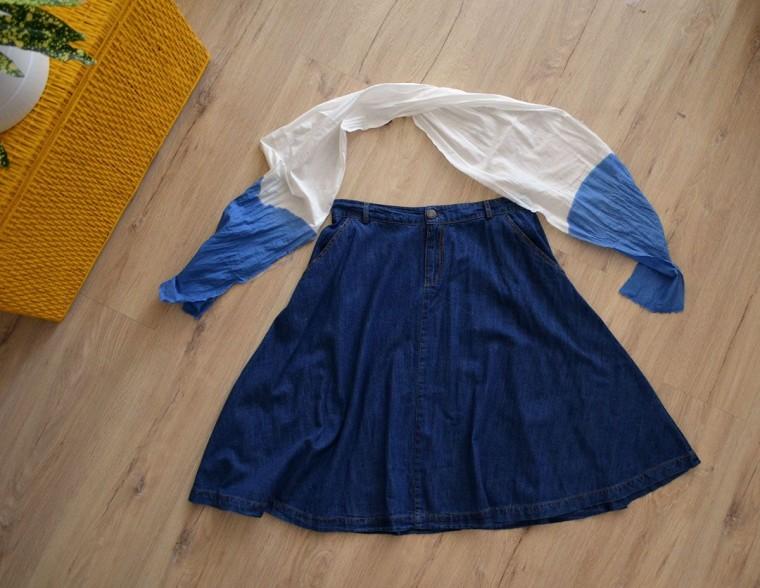Vestido con falda y top