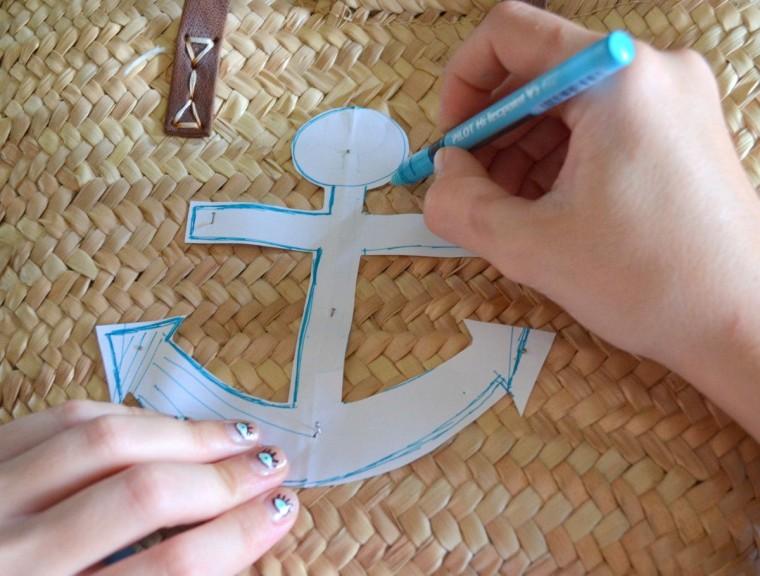 Capazo marinero ancla diy