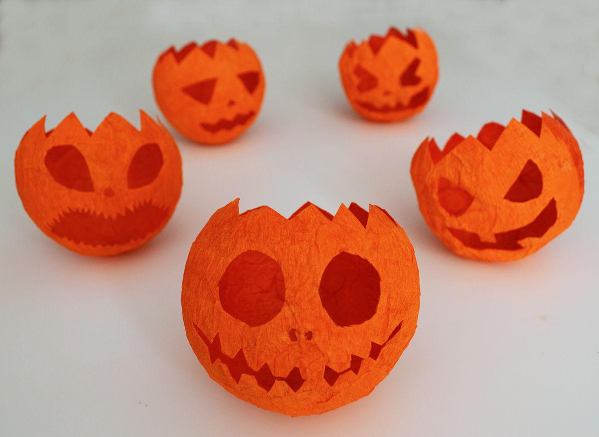 Guirnalda de calabazas diy para halloween departamento - Como hacer calabaza halloween ...