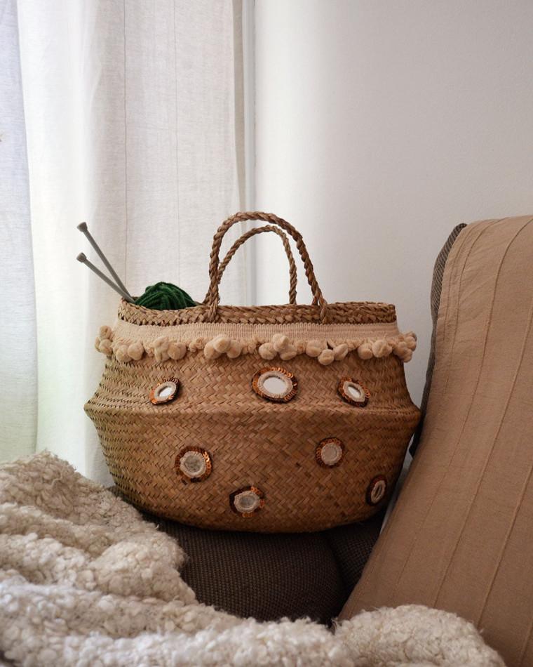cesta-fladis-pompones-espejos-shisha