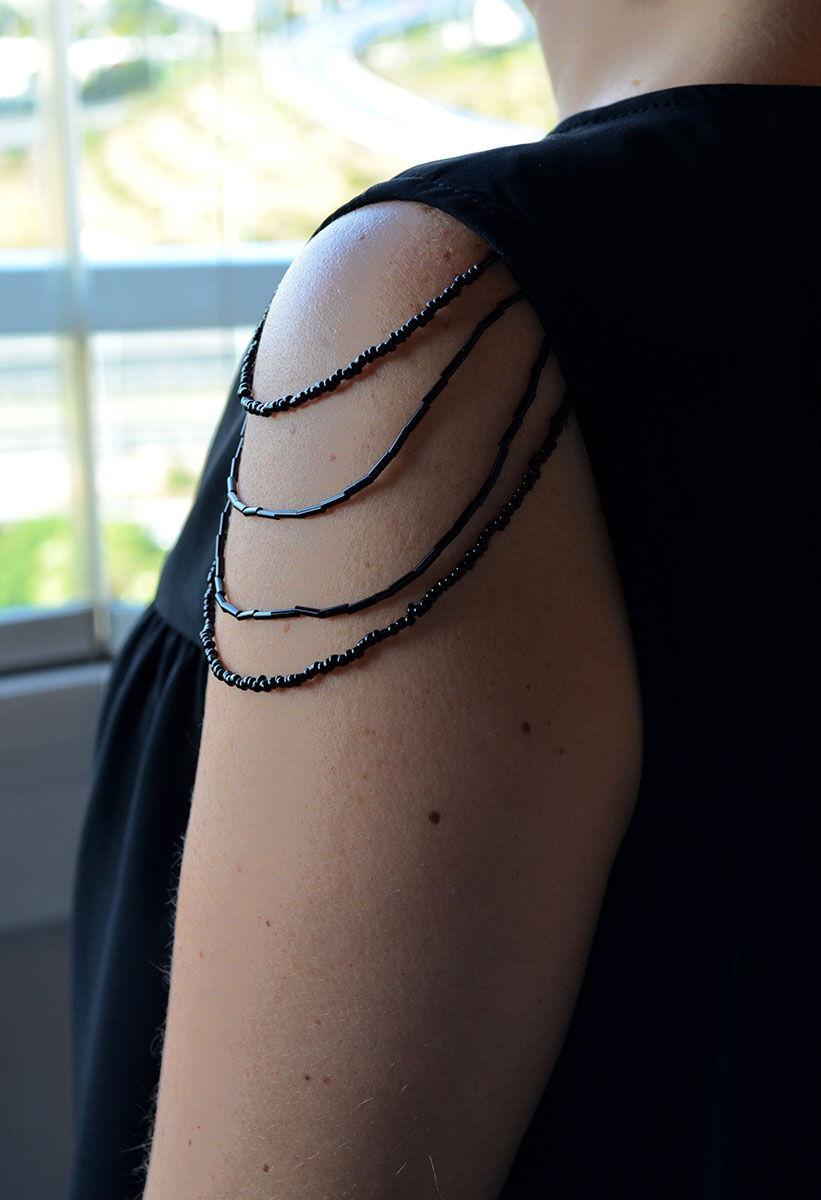 Abalorios manga hombro DIY