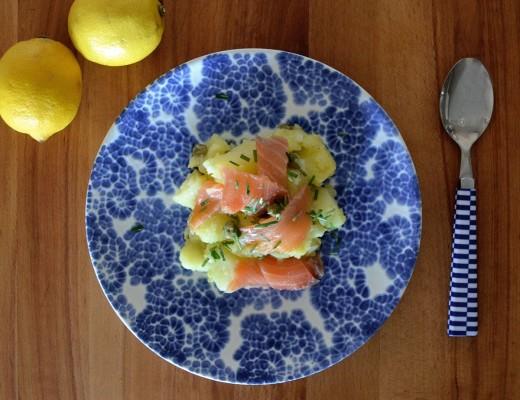 Ensalada patata salmon