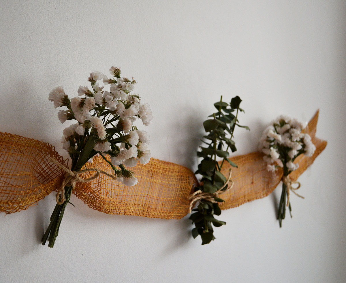 Decorar Flores Secas Guirnalda 3 Departamento De Ideas - Decorar-con-flores-secas