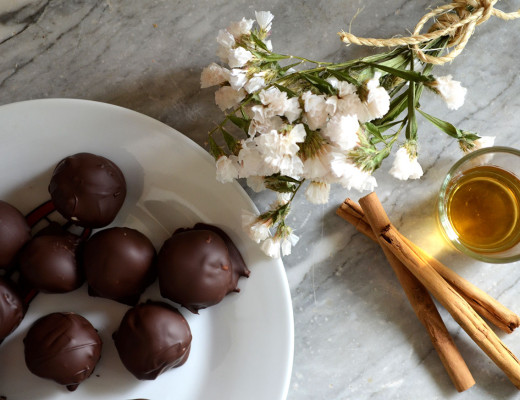 Bombones de chocolate blanco y canela