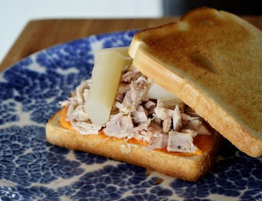 Sandwich salmorejo pollo