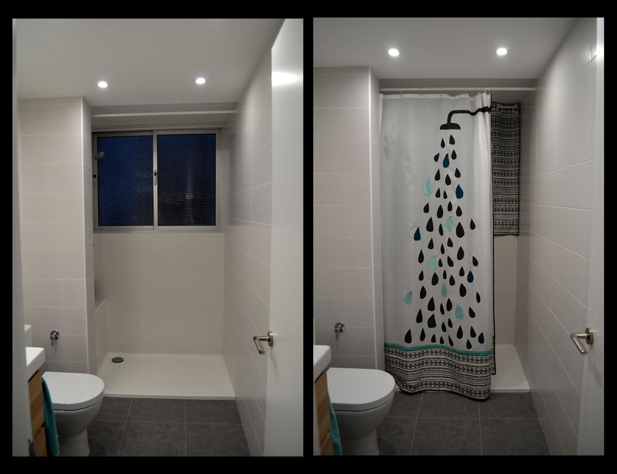 Cortina de ducha diy departamento de ideas - Duchas para banos ...