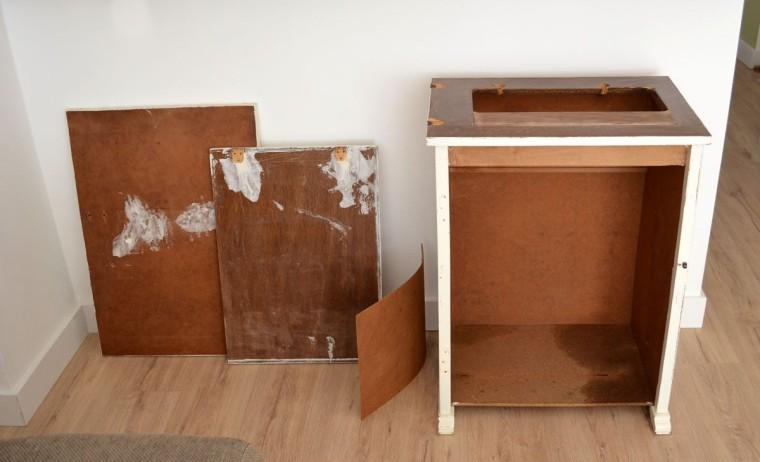 Mueble De Maquina De Coser Antigua Restaurada Departamento De I